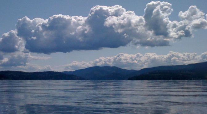Clouds Reflected on Lake Coeur d'Alene
